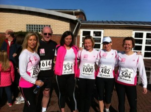 The SoSpa running team on the Fradley 10k 2012