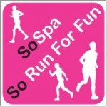 The so run for fun logo. Running club that meet twice the week plus working online